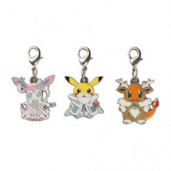 Metal Keychain Set x3 Pokémon Frosty Christmas