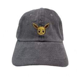 Corduroy embroidery Cap Eevee japan plush