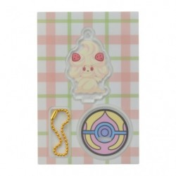 Acrylic keychain Alcremie japan plush