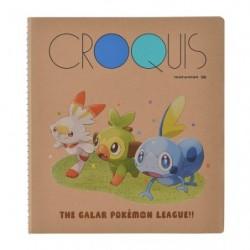 Cahier croquis Galar Ligue Pokémon japan plush