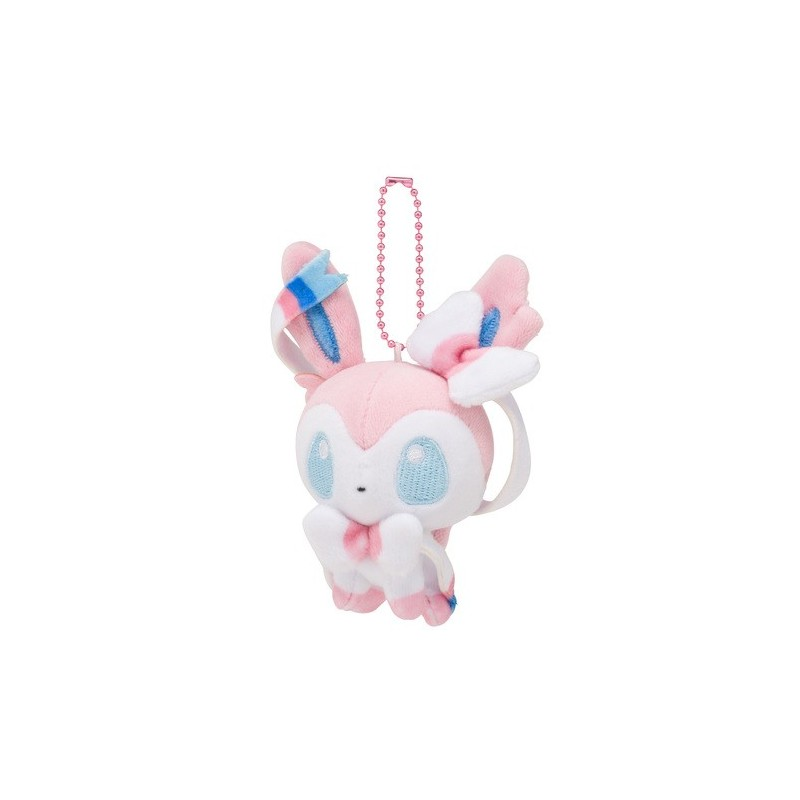Plush Keychain Mascot Pokemon Doll Sylveon Meccha Japan