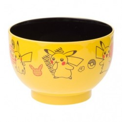 Soup bowl yellow Pikachu japan plush