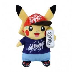 Peluche Pikachu  Pokémon Center SHIBUYA Graffiti Art japan plush