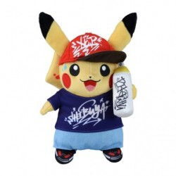 Plush Pikachu Pokémon Center SHIBUYA Graffiti Art japan plush