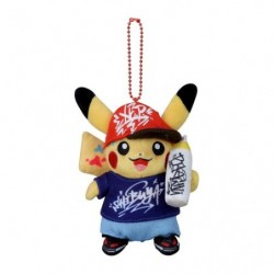 Plush keychain Pikachu Pokémon Center SHIBUYA Graffiti Art
