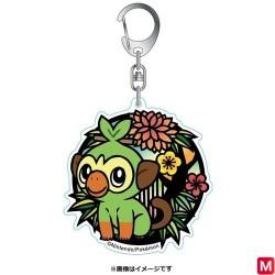 Keychain Paper-cut Badge Grookey japan plush