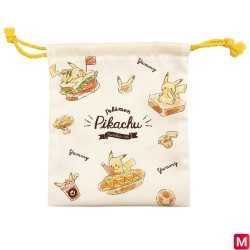 Drawstring pouch Pikachu number025 japan plush
