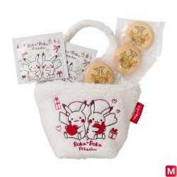 Chibi Bag Cookie & Tea Set Poka Poka Pikachu japan plush