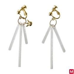 Screw clasp Earrings Kanade X Pikachu HARIO Lampwork Factory