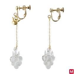 Screw clasp Earrings Razz berry HARIO Lampwork Factory