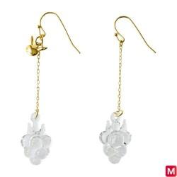 Hook Earrings Razz Berry HARIO Lampwork Factory