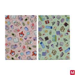 A4 Clear file Contents of Trainers bag GR_PL japan plush