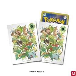 Card sleeves Starters Grass Pokémon TCG japan plush