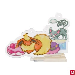 Stand Charm Glameow and Flareon Yawning japan plush