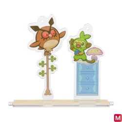 Stand Charm Hoothoot and Grookey Yawning japan plush