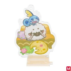 Stand Charm Wooloo and Sobble Yawning japan plush