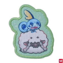 Patch Sticker Yawning Wooloo and Sobble japan plush