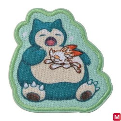 Patch Sticker Yawning Snorlax and Scorbunny japan plush