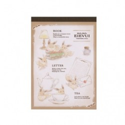 Note Memo Mofu Mofu Eevee Antique japan plush