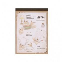 Note Memo Mofu Mofu Evoli Antique japan plush