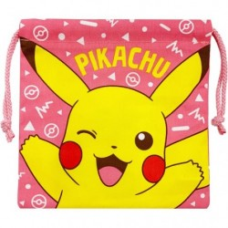 Pouch Pikachu with laces japan plush