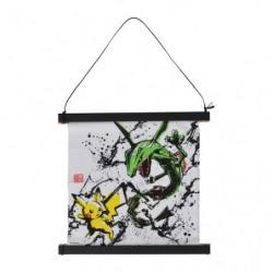 Kakejiku Pikachu and Rayquaza Calligraphy Sumie Retsuden