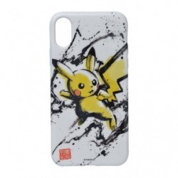 Protection souple Pikachu pour iPhone Xs/X Calligraphy Sumie Retsuden japan plush