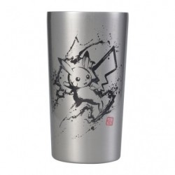 Steel Tumbler Pikachu and Requaza Calligraphy Sumie Retsuden japan plush