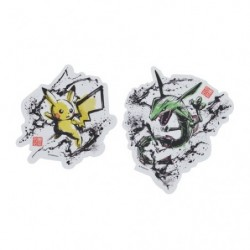 Sticker set Pikachu and Rayquaza Calligraphy Sumie Retsuden japan plush