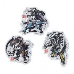 Sticker Set Calligraphy Sumie Retsuden Entei Suicune Raikou japan plush