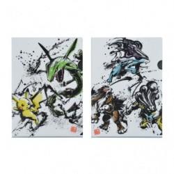 Pochettes transparentes Set Calligraphie Sumie Retsuden japan plush