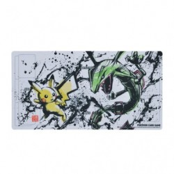 Tapis de jeu Pikachu and Rayquaza Calligraphy Sumie Retsuden Pokemon TCG Japan japan plush