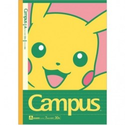 Cahier Campus Pokémon A Set x5 japan plush