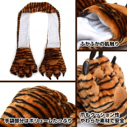 Hand Muffler Animal Black and White japan plush