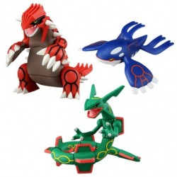 Figurine Groudon Kyogre Rayquaza Moncolle ML-03-04-05 japan plush