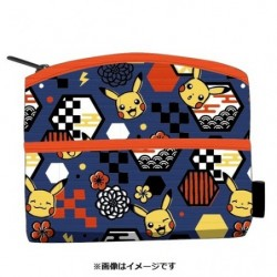 Yuzen Pouch Pikachu japan plush