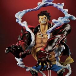 Figurine One Piece Monkey D.Luffy Gear 4 Lion Bazooka japan plush