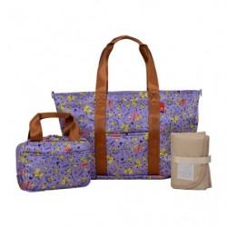Set Shopping Bag Purple japan plush