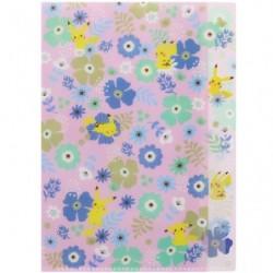 Clear File A5 Flower D japan plush