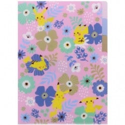 Clear File A5 Flower japan plush