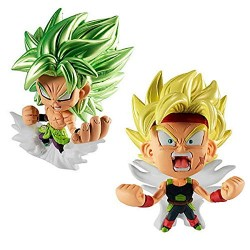 Figurine Super Saiyan Bardock and Full Power Broly Dragon Ball Super japan plush