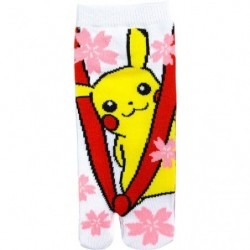 Chaussettes Traditionnel Flower Pikachu M size japan plush