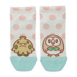 Short socks Motchiriman Maru Shroomish and Rowlet japan plush