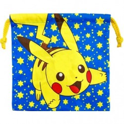 Drawstring bag Pikachu stars japan plush