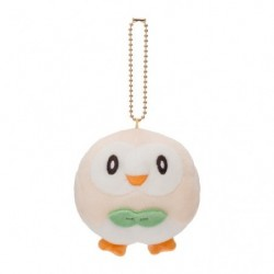 Plush keychain Rowlet Motchiriman maru japan plush