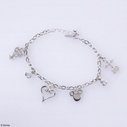 Silver Charm Bracelet Kingdom Hearts Monogram japan plush