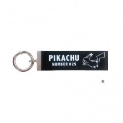 Key Chain Logo Pikachu Black japan plush