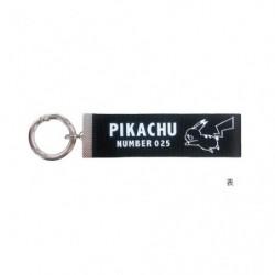 Porte Cle Logo Pikachu Noir japan plush