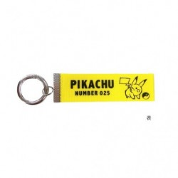 Key Chain Logo Pikachu Yellow japan plush