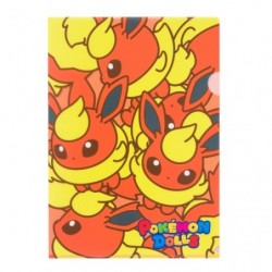 A4 Clear File Pokemon Doll Flareon japan plush
